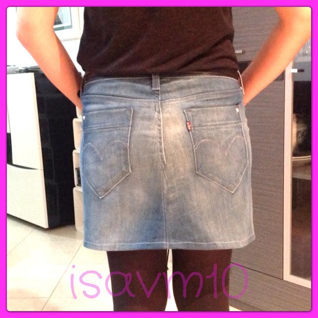 f2490bf01 D I Y : Cómo hacer una falda con un pantalón - IsaShopaholic