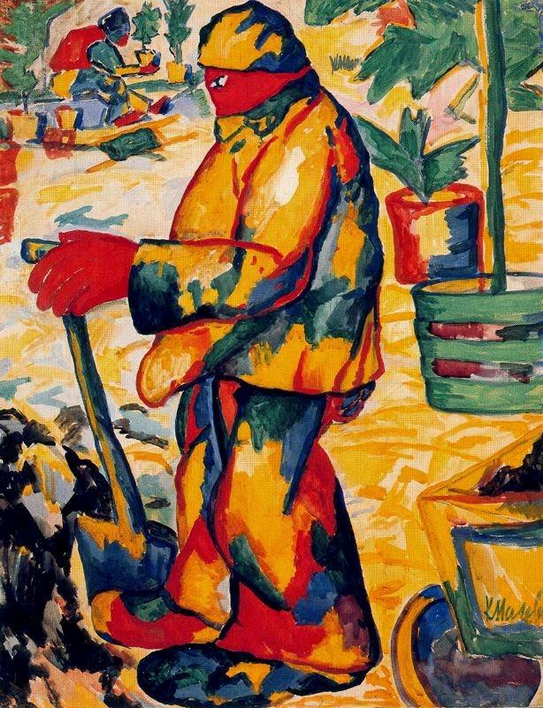 O Jardineiro - Kasimir Malevich e suas pinturas com elementos geométricos abstratos