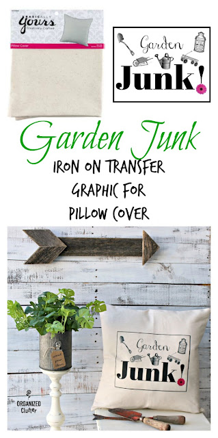 Garden Junk Iron On Transfer Pillow Cover Graphic Image #gardenjunk #junkgarden