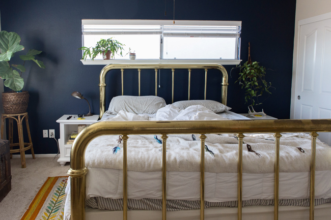 Insideways Navy Blue Bedroom