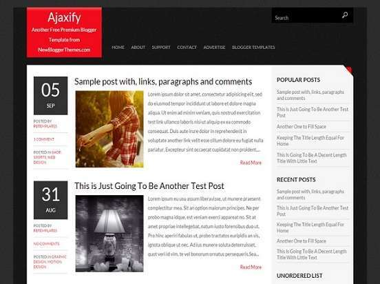 Ajaxify - Personal Blogger Template - Personal blog