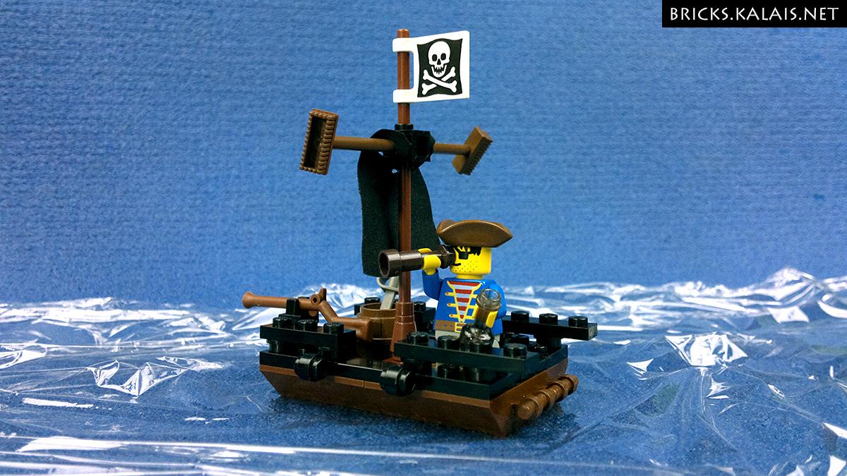 [MOC] Pirates raft - custom polybag