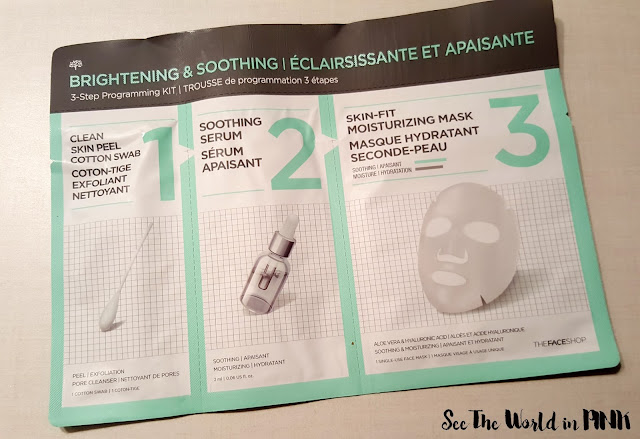 the face shop 3-step programming kit brightening and soothing