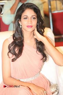 Actress Lavanya Tripathi Pictures in Long Dress at Srirastu Subhamastu Pre release Function  0020.JPG