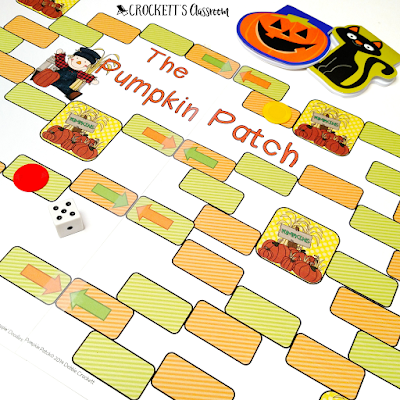 Fun fall game!  Kids can use the game with any question cards, or flash cards.