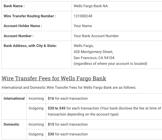 Wells Fargo Wiring Instructions WIRING CENTER