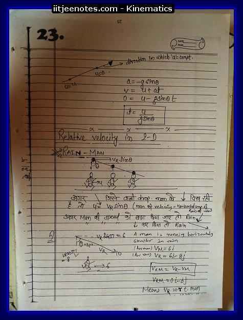 kinematics notes cbse7