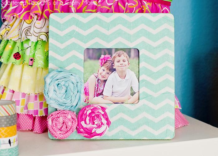 Chevron Tissue Paper Picture Frame