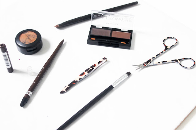 A picture of eyebrow products