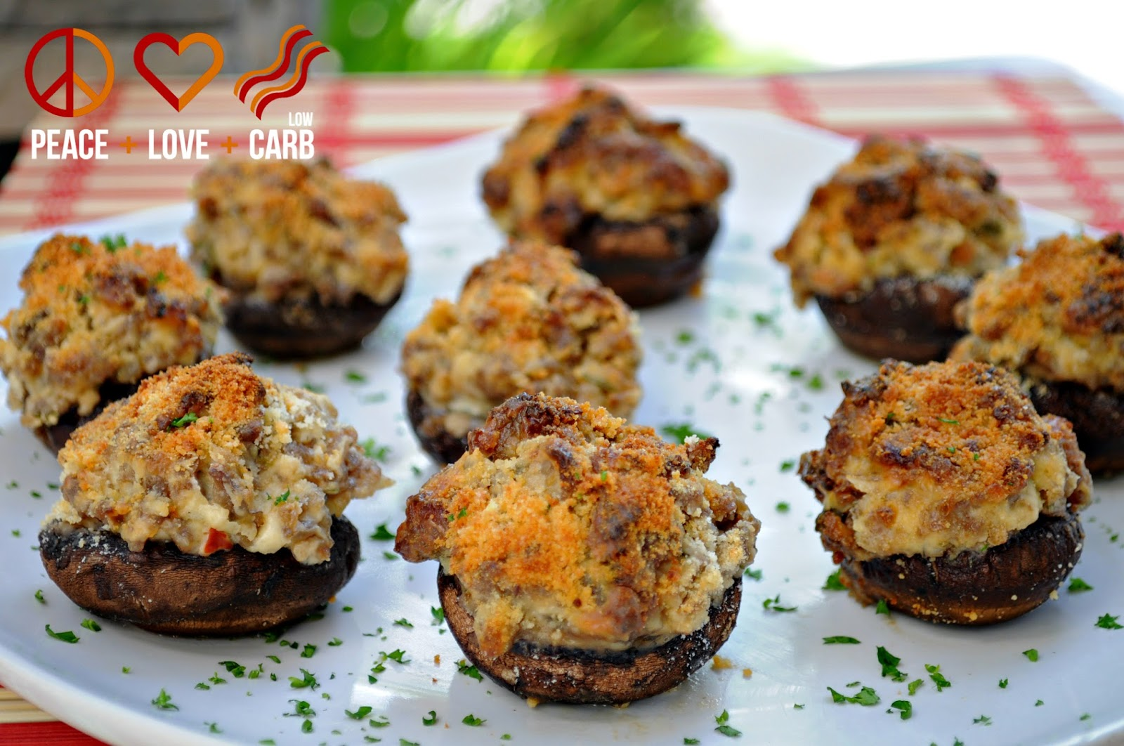 Sausage Stuffed Mushrooms Peace Love And Low Carb