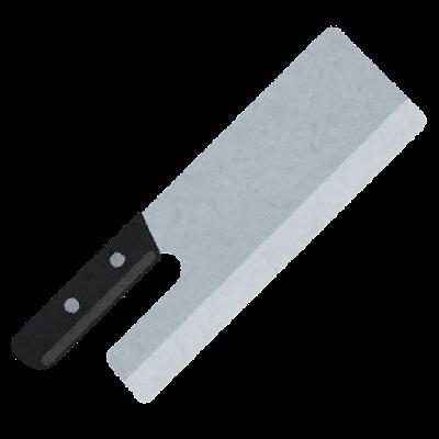 麺切り包丁のイラスト