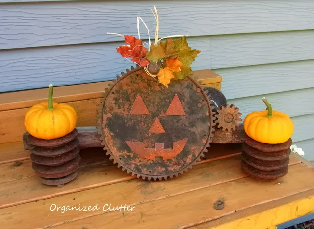 Repurposed Gear Halloween Jack o'Lantern