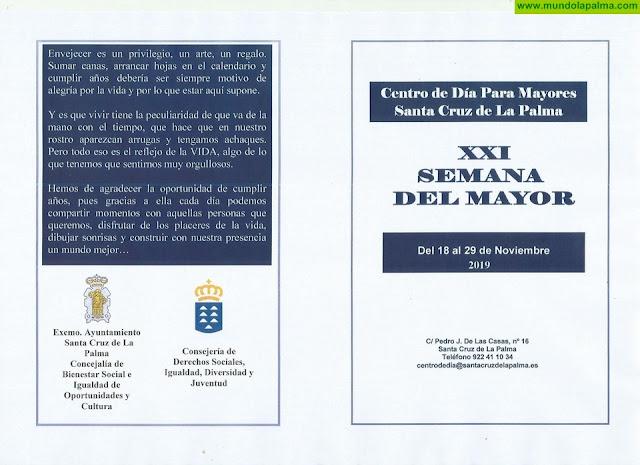 Comienza la XXI Semana del Mayor de Santa Cruz de La Palma