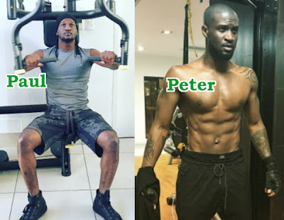 peter paul okoye at the gym