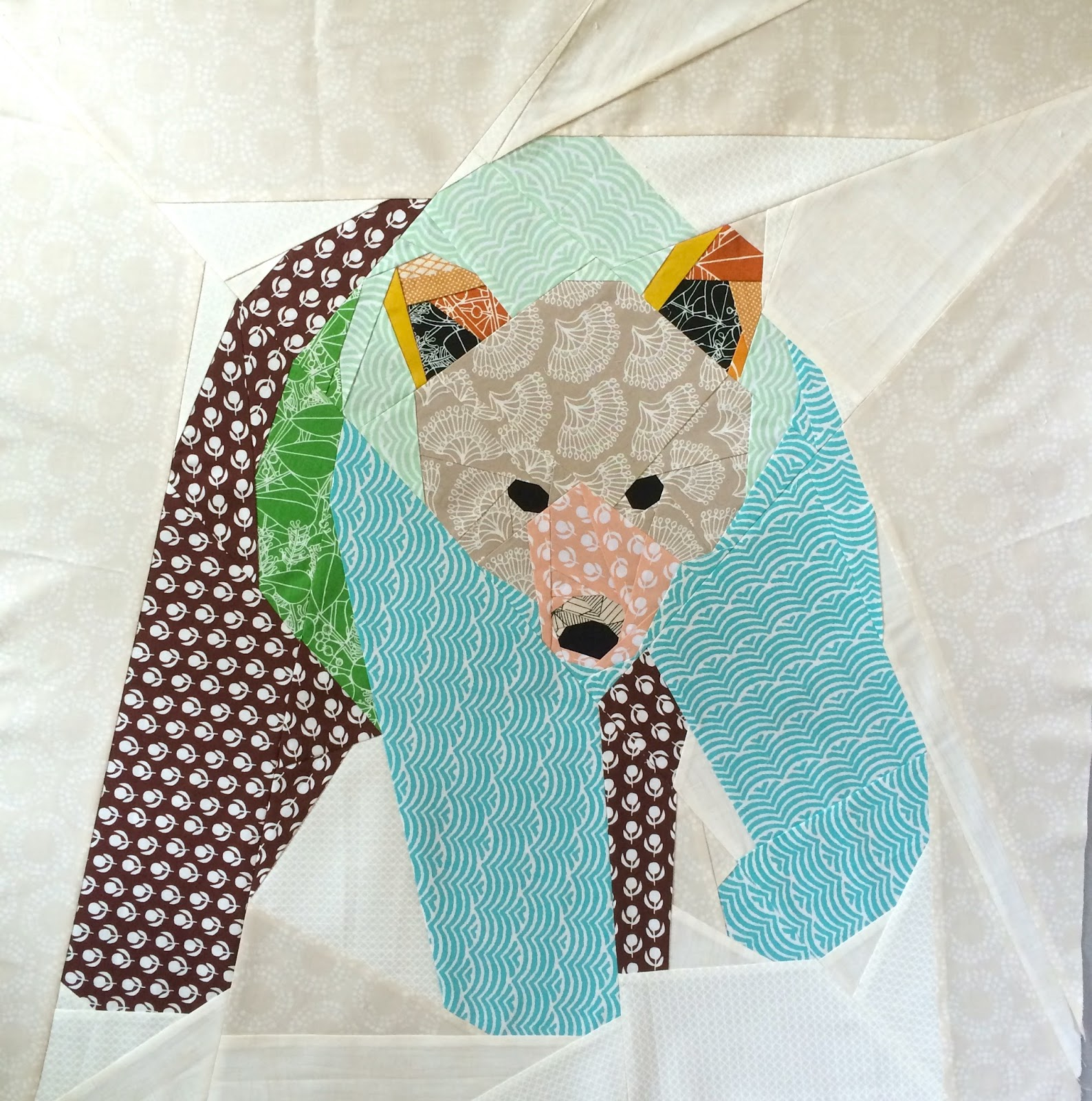 Paper Pieced Bear
