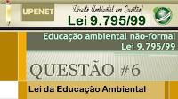 Questões comentadas da Lei 9.795/99 - Educação Ambiental