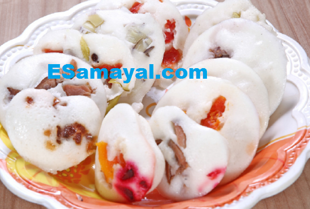 மிக்ஸ்ட் ஃப்ரூட் இட்லி செய்முறை | Mixed Fruit Idli Recipe !