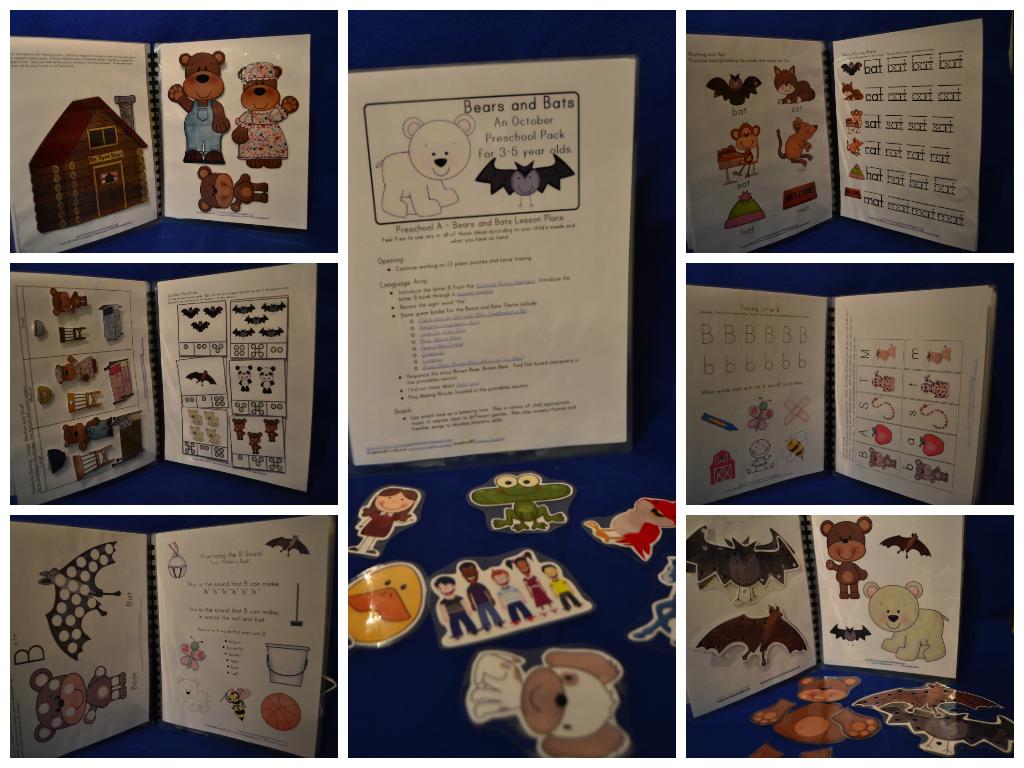 Little Adventures Preschool October Preschool Packs