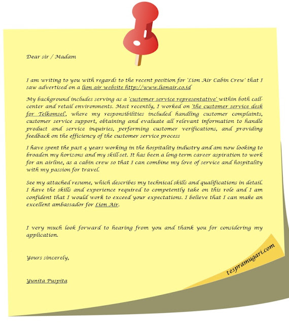 Cabin Crew Cover Letter