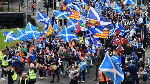 Marcha en Escocia por un nuevo referéndum de independencia