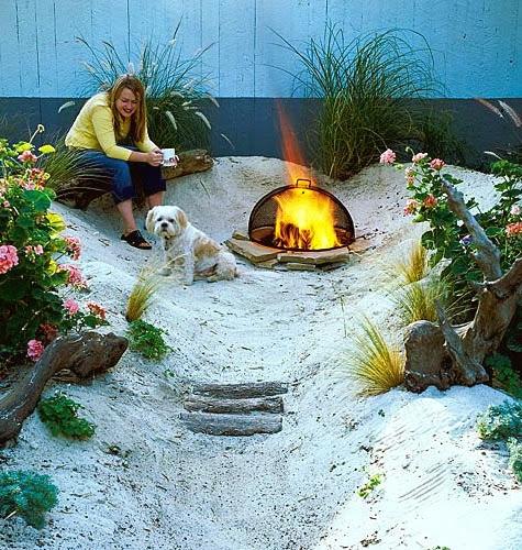 beach theme garden design ideas