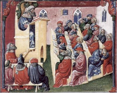 https://en.wikipedia.org/wiki/Medieval_university#/media/File:Laurentius_de_Voltolina_001.jpg