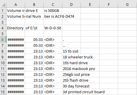 How to Copy 1737 Folder's Name Into Excel Easily 4