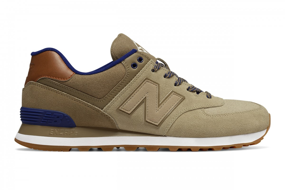 New Balance 574 Gradient Sneaker in Copper & Black from