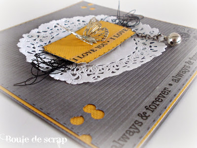 SRM Stickers Blog - Love Cards & Box by Angélique - #borders #cards #clear box #doilies #love #stickers #twine #valentine #wedding