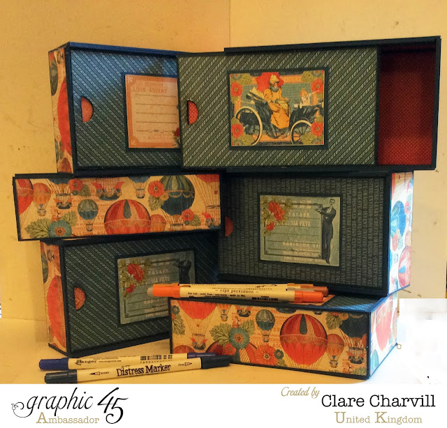 Worlds Fair Pencil Cases Clare Charvill Graphic 45