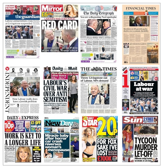 front pages 29-04-16