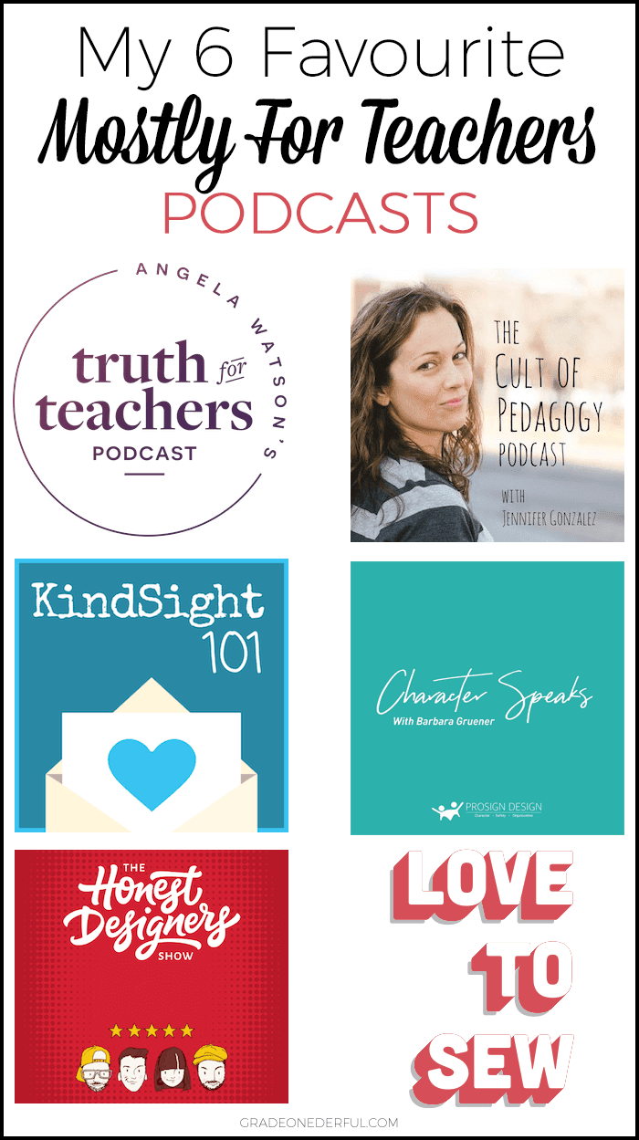 "6 Best Podcasts: These are my favourite ""mostly for teachers"" podcasts. #podcast #education #gradeonederful"