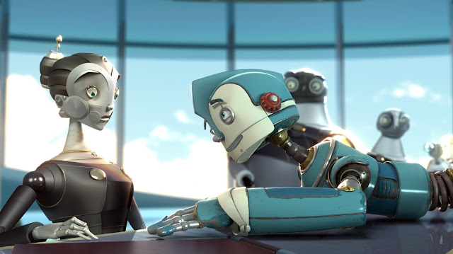 fotograma en 3D de la película Robots de los personajes protagonistas Rodney y Cappy