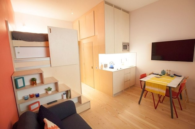04-Bedroom-Living-and-Kitchen-Area-Micro-Flats-a-way-of-making-Homes-more-Affordable-www-designstack-co