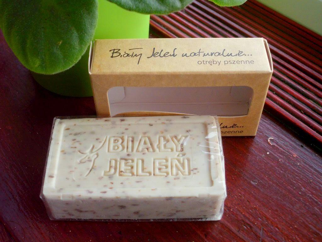 biały jeleń naturalny mydełko w kostce