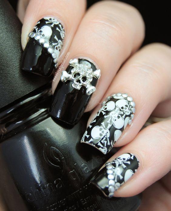 Great Gothic Nail Art Ideas Omg Love Beauty