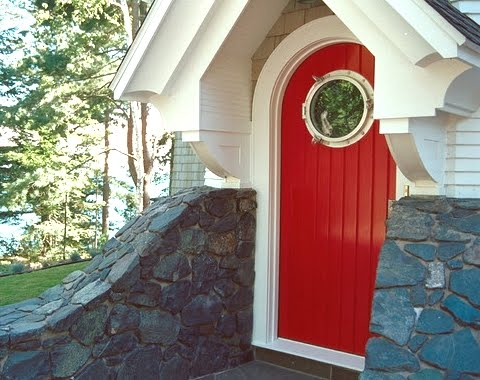 front door with porthole window