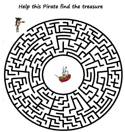 Let's go!: Pirate Mazes