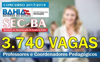 concurso Educação-BA 2017/2018