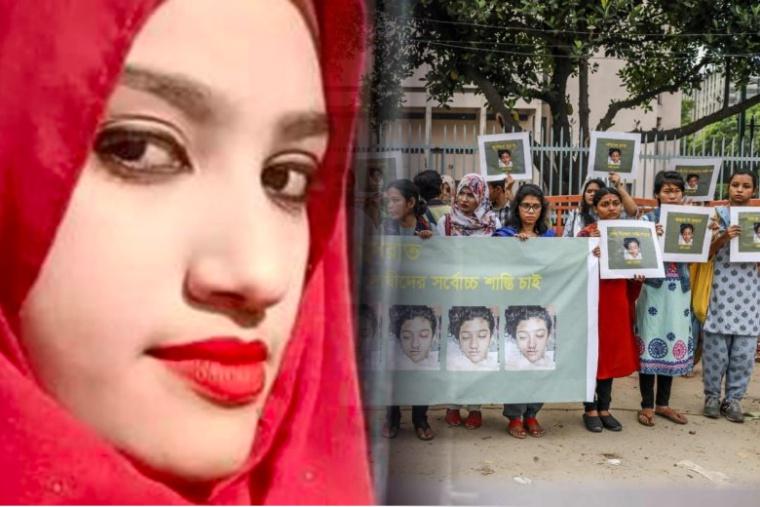 Siswi di Bangladesh dibakar Hidup-Hidup karena melaporkan pelecehan seksual Kepala Sekolah Kepadanya