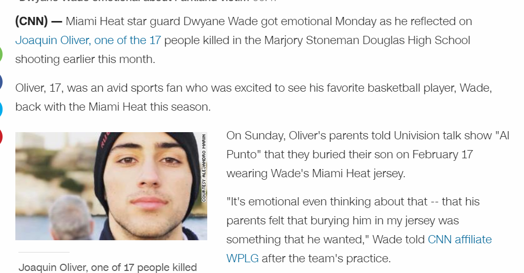 Dwayne Wade gets emotional over shooting victim buried in his Jersey. Does  anyone else find it strange this kid was buried so fast  74342f064