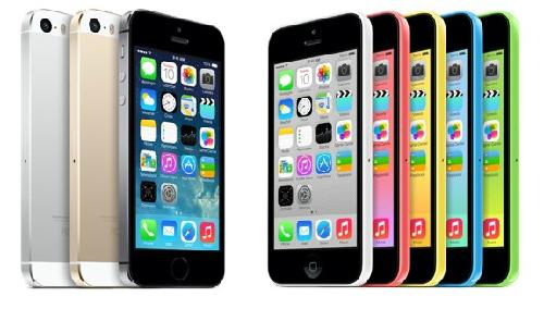 Điện thoại Iphone 5s và iphone 5c