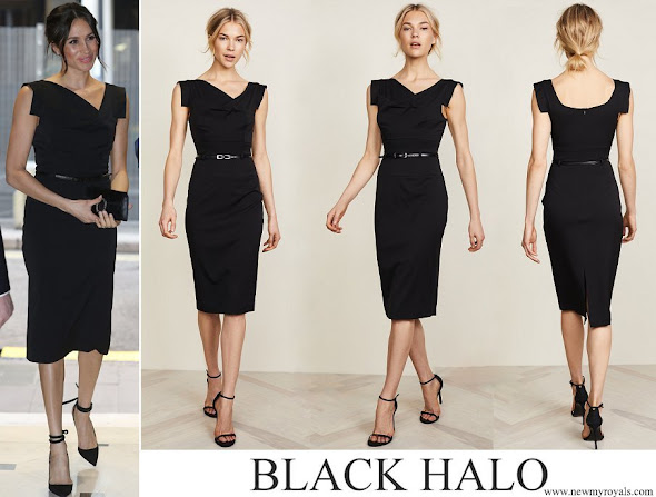 Meghan Markle Wore Black Halo Jackie Belted Dress