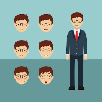 vector karakter orang kantor