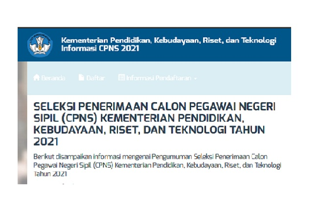 kendala dan solusi pendaftaran CPNS kemdikbud 2021