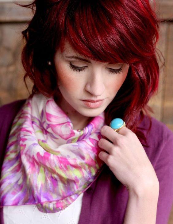 la moda en tu cabello tendencias color de pelo rojo 2016