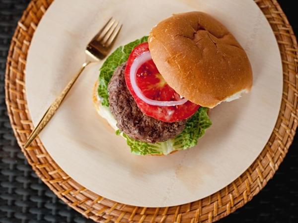 receber em casa com hambúrguer