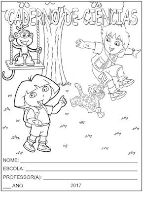 Capa de caderno de Ciências