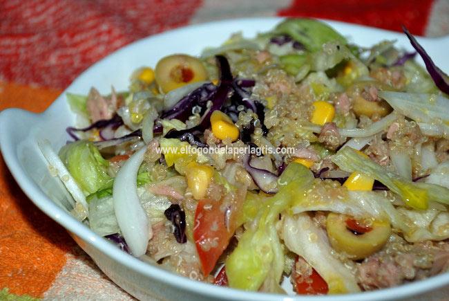 Ensalada de quinoa con at n el fog n de la perla gris for Cuanto se cocina la quinoa