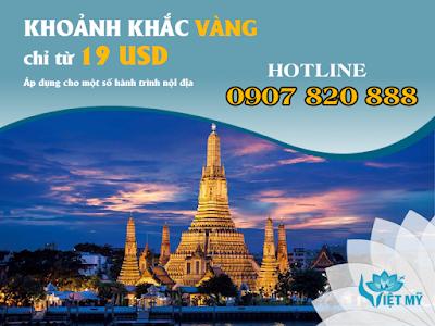 Khuyến mãi Khoảnh Khắc Vàng của Vietnam Airlines cho các chặng bay đi Đông Nam Á